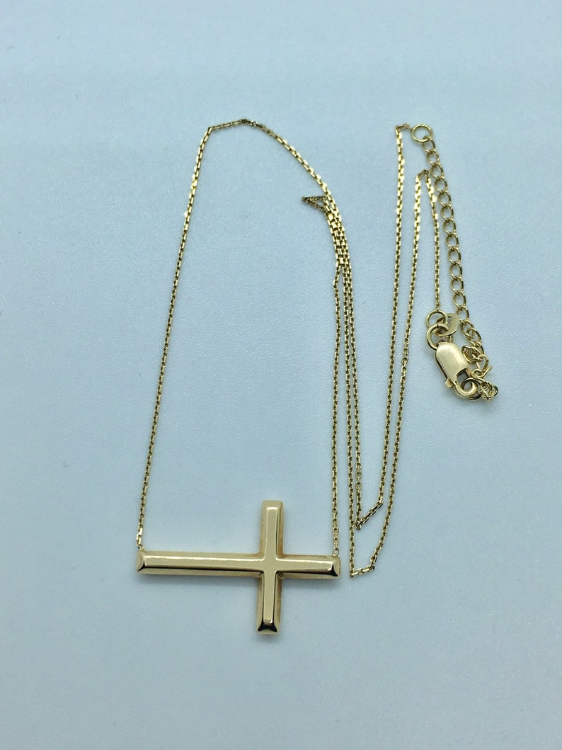 14k cross necklace