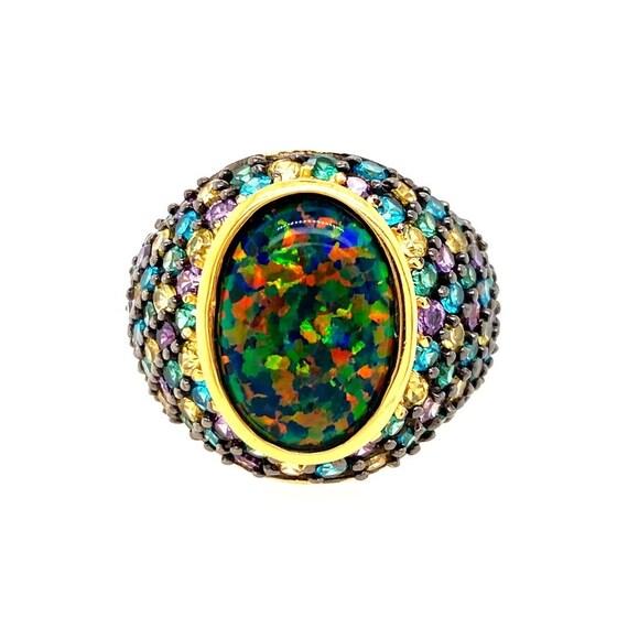 925 Black Opal/Gemstones Ring