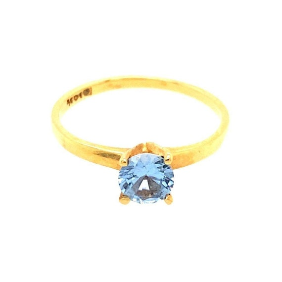 10k Blue Gemstone Ring