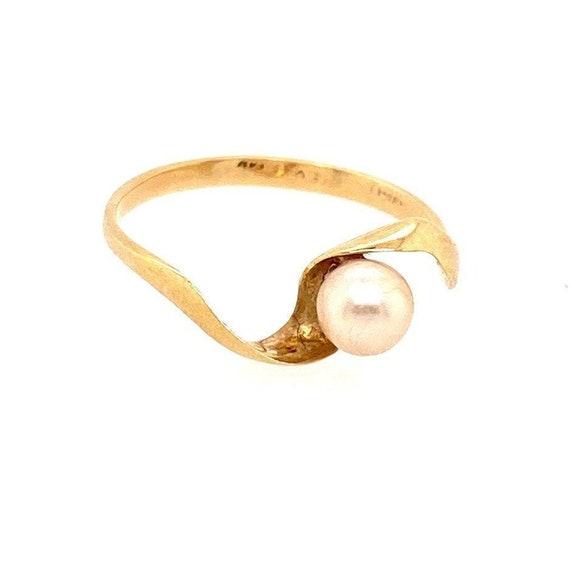 14k Minimalist Pearl Ring