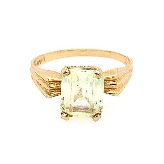 14k Small Gemstone Ring
