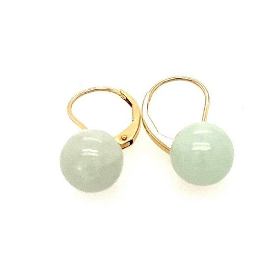 14k Jade Dangle Earrings