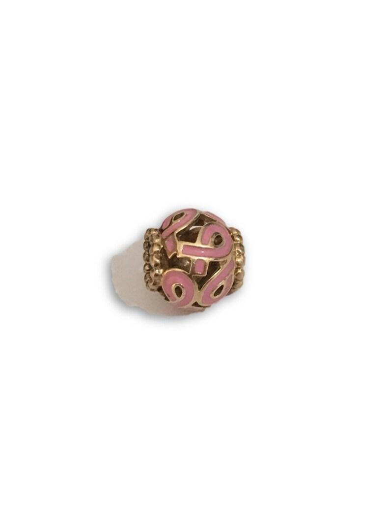0609f916a 14k Pandora Breast Cancer Charm   Etsy