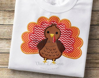 Thanksgiving / Fall Turkey Appliqué Embroidery Design