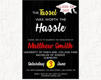 college graduation party invitations etsy