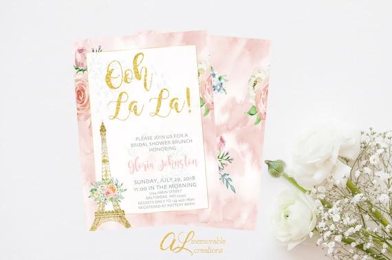 Paris bridal shower invitation french bridal shower etsy image 0 filmwisefo