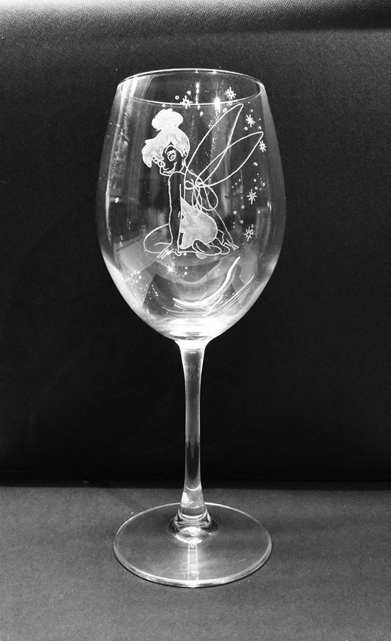 """Hand Engraved /""""Dopey/""""  Large Wine Glass Gift Personalised Free"""