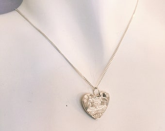 AUSTRALIA LOVE Handcrafted Sterling Silver Heart Pendant made from a Vintage Australian Coin