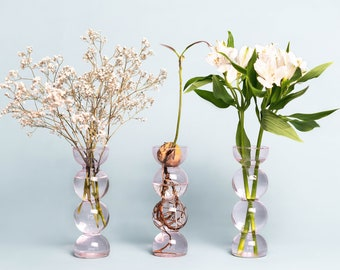 Pink PropaVase - Bubble Bulb Propagation Vase for Avocados, Hyacinths, Chestnuts, Walnuts - Gifts for Her - Gifts for him