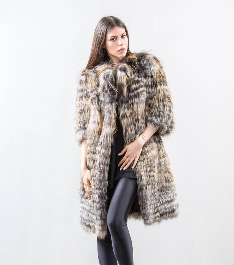 d20f64ce29 Saga Gross Fur Coat Fox Fur jacket With Pockets Real Fox | Etsy