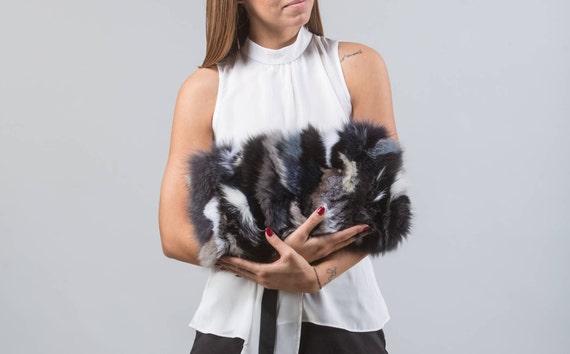 Colorful Fur Clutch Bag Real Fur Bag Real Fox Fur Handbag  e4db3e11aab17
