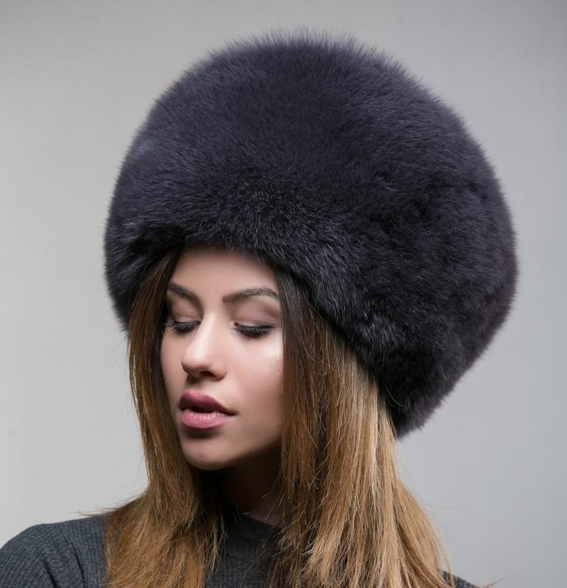 Cappello cosacco cappello cappello di pelliccia di volpe  7ad73eb8ffcb