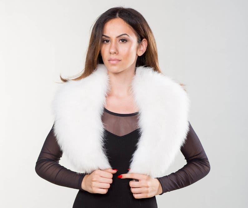 b9b07d663eed5 White Fox Fur Collar Real Fox Fur Neckwearing Fur Shawl