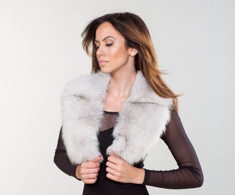 a78fed6ea3 Dusty Fox Collar Real Fox Fur Neckwearing Fur Shawl | Etsy