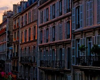 Paris, France,  Rue de Douai at Sunset, 2016
