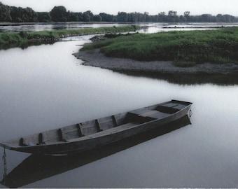 Loire River at Possonnière, France, 2014.  An Original Photo Art Card.