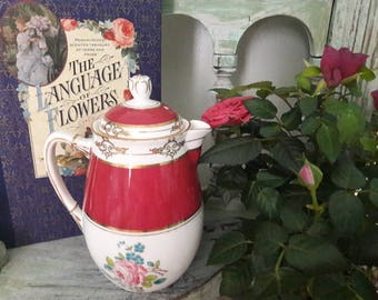 absolutely stunning old royal china England coffee pot/ chocolate pot
