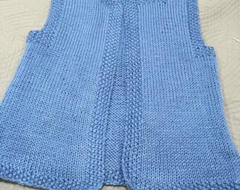 Ladies Blue Knitted Vest
