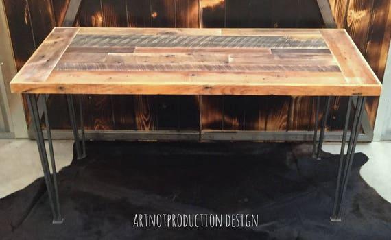 Ancien bureau pupitre en bois grange merisier super qualité table