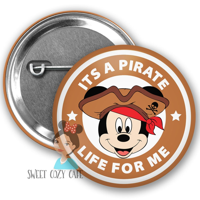 Pirate Mickey Inspired Park Button