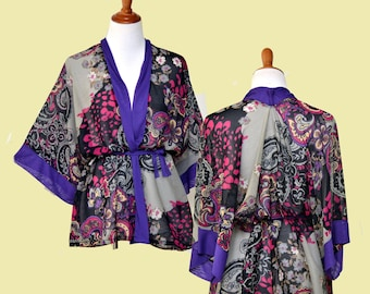 785cfc52e1 Purple kimono robe