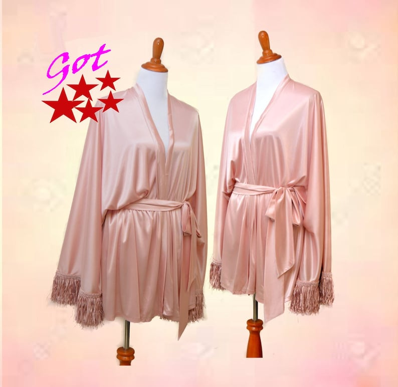 Mauve Satin kimono Dusty rose cardigan women pink kimono  943a73cae
