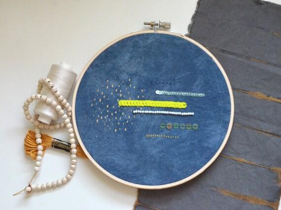 c30df38d458f6 Decorative embroidery wall unique indigo dyeing screen