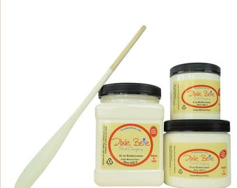 Dixie Belle Paint Company BUTTERCREAM Mineral Chalk Paint, 8 ounce, DIY Project, Furniture, Home Decor, & More