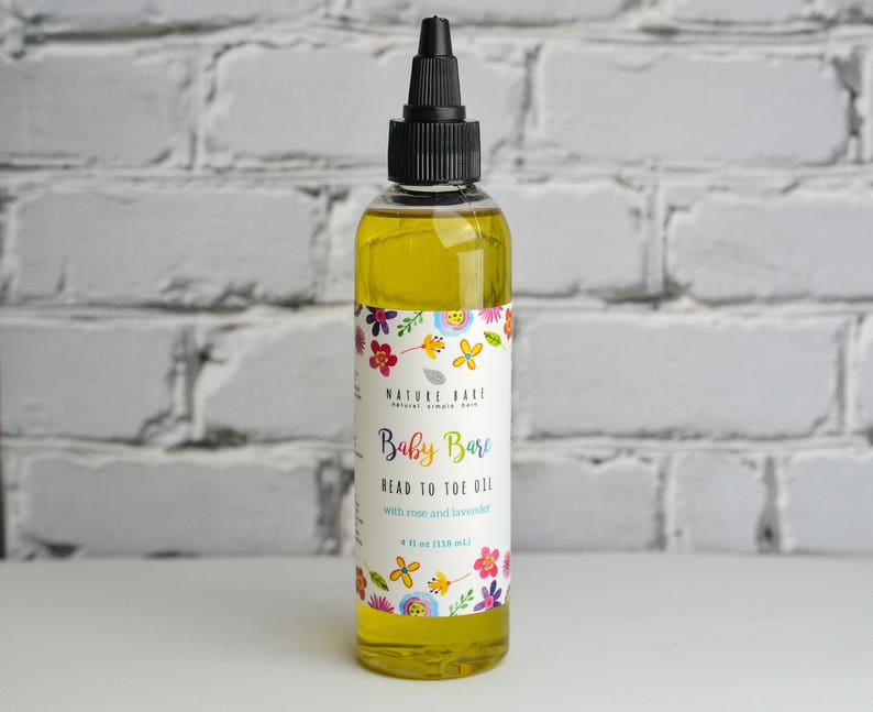 Baby Bare Head to Toe Oil  Natural Baby Oil Blend  Grapeseed image 0