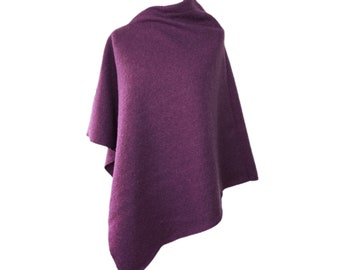 "Noble wool poncho ""Blackberry Purple"" by marengu"