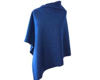 "Wool poncho ""cobalt blue"" by marengu"