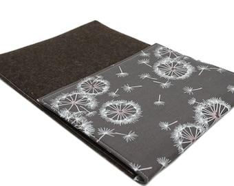 Laptop Sleeve - Tabletsleeve with puff flowers in brown-pink by marengu