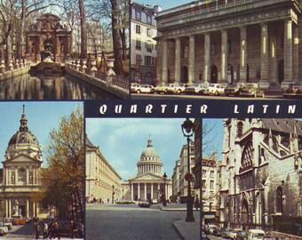 Vintage Unused Post Card Latin Quarter , Paris, France. 1980s