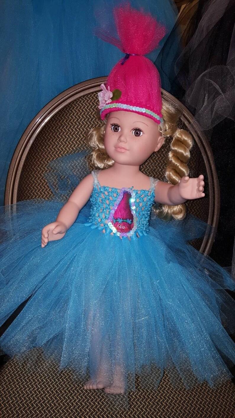 3dd81317e 18 inch Doll princess poppy tutu dress set with troll hair | Etsy