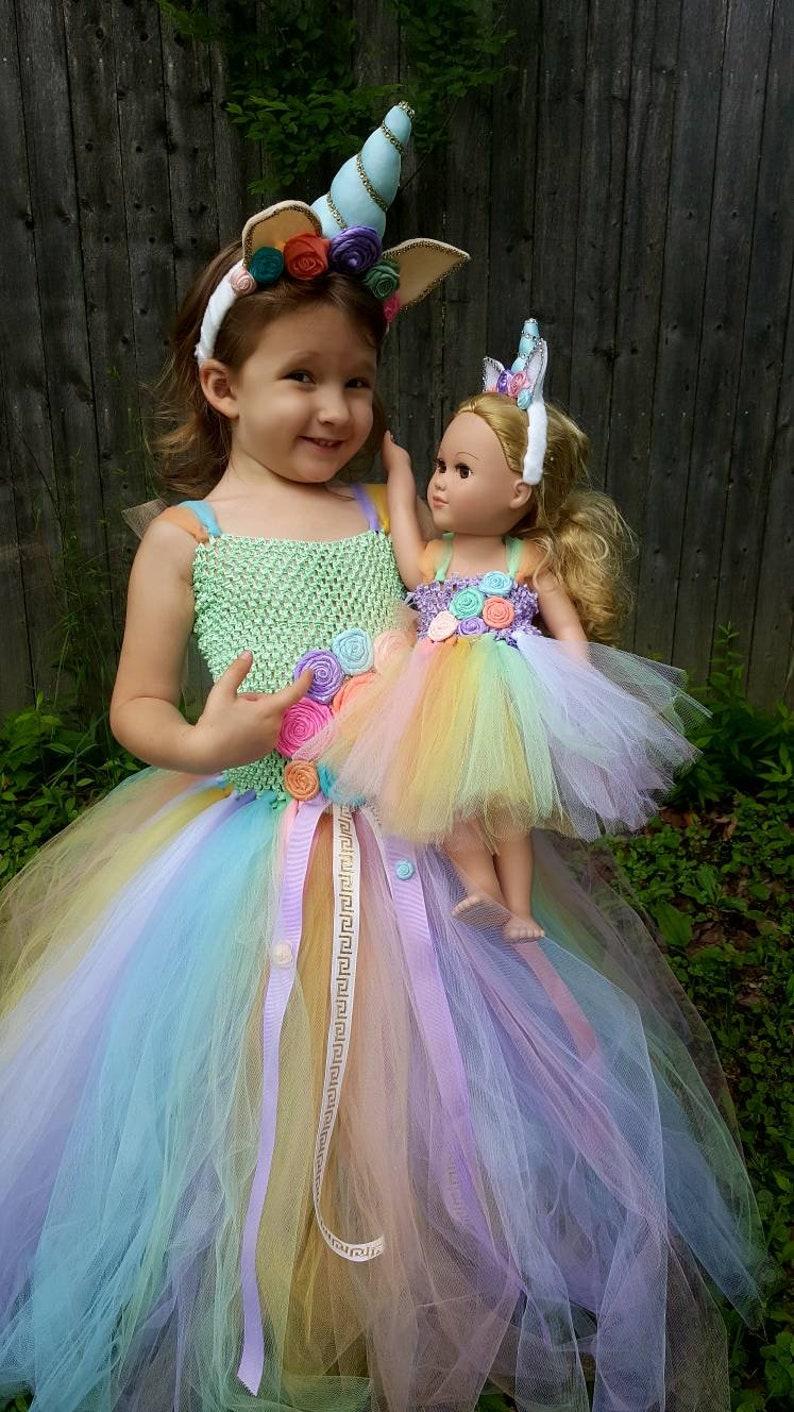 69e8658b5 18 inch doll unicorn tutu dress set whimsical unicorn tutu | Etsy