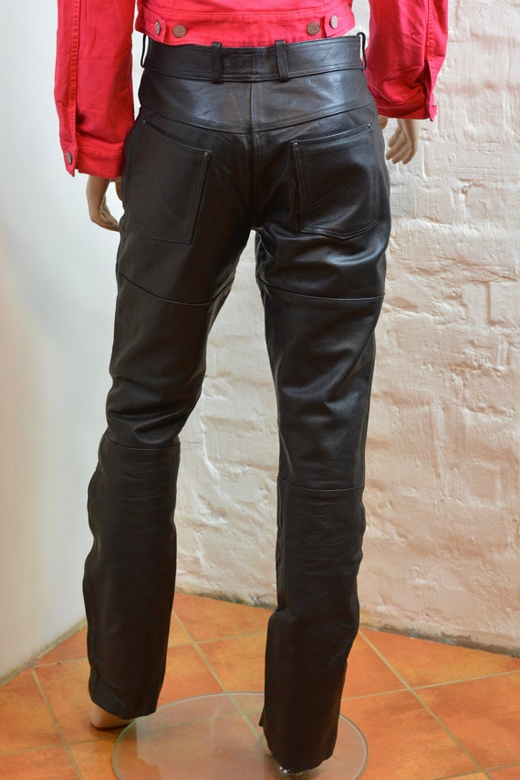 Biker Leather Pants Genuine Leather Pants Trousers