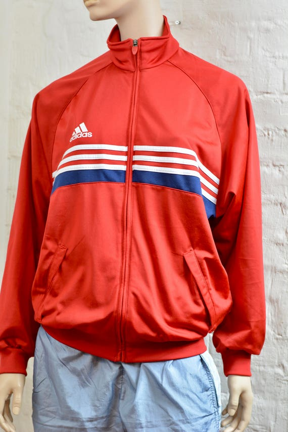 d8e6fa3df213 Vintage 90s Adidas Tracksuit top jacket Color Block