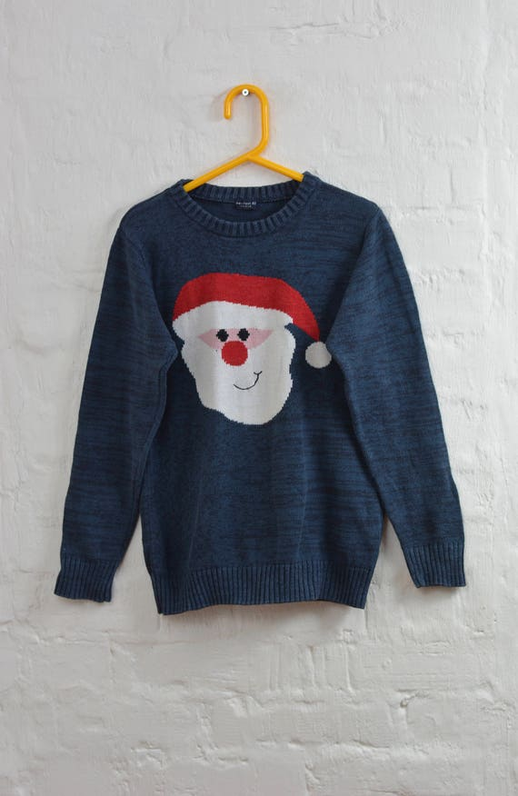 Vintage Blue Kids Ugly Christmas Sweater 9 Yrs Height 134cm Etsy