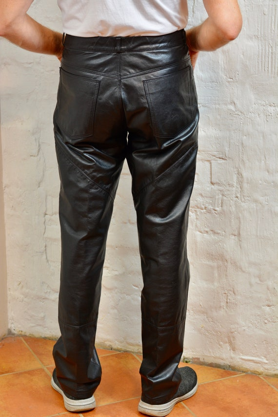 Vintage Biker Leather Pants Genuine Leather Pants