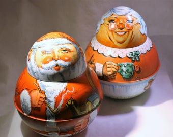 Santa and Mrs. Claus Tins