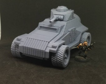 Armored Car (APC-1A) (Imperial Guard Alternate Model For Tabletop Wargaming In Space)
