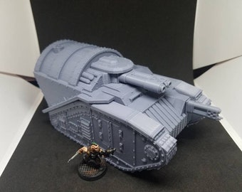 """Rogue Pattern Mk4-2H """"Perdition"""" Heavy Flame Tank (Imperial Guard Flame Tank Alternate Model For Tabletop Wargaming In Space)"""