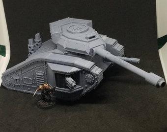 "Rogue Pattern Mk2-1A ""Wildcat"" Main Battle Tank (Imperial Guard Main Battle Tank Alternate Model For Tabletop Wargaming In Space)"