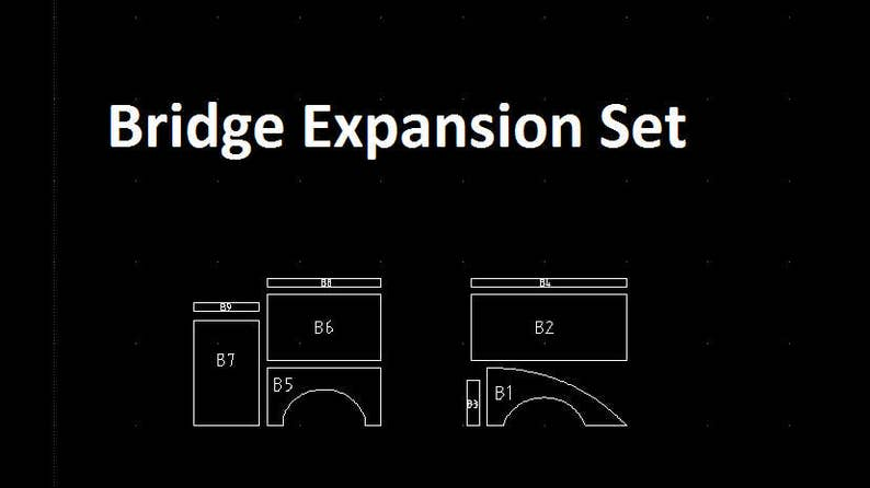 Bridge Expansion - Tabletop Fantasy Miniature Terrain Building Templates