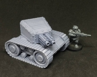 Tankette (Imperial Guard Scout or Heavy Weapons Alternate Model For Tabletop Wargaming In Space)