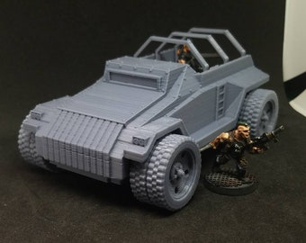 Open Topped v2 Armored Car (APC-1C) (Imperial Guard Alternate Model For Tabletop Wargaming In Space)