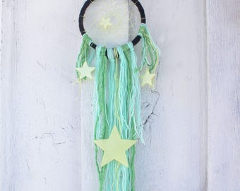 Dream catcher decor,  star wall art, Bedroom decor, Glow in the Dark Stars, Babyshower gift
