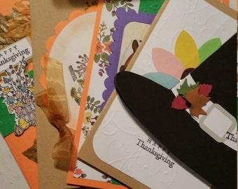 Set of ten Very cute thanksgiving cards!