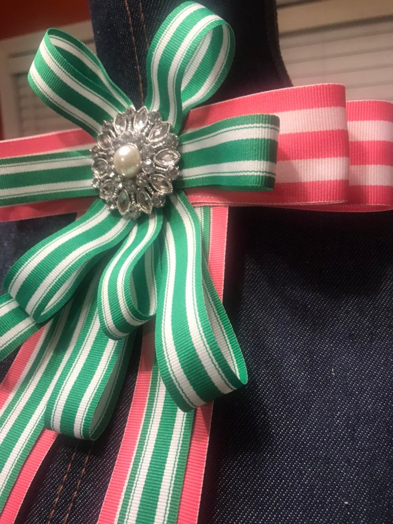 Pink and Green Bling Necktie
