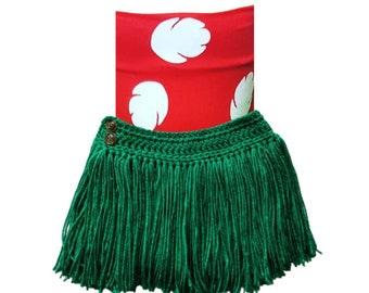 Hula Costume, Hawaiian  Costume, Crochet luau Skirt, Baby Girl luau Outfit ,Grass Skirt, Hula Girl Costume